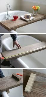 Unique diy bathroom ideas using wood Barn 2 Bathtub Table Diy Crafts Ideas Magazine 15 Creative Storage Diy Ideas For Modern Bathrooms 2 Bathtub Table