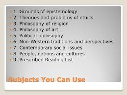 philosophy ia options type of essay philosophical essay ◦or  5 subjects