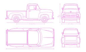 Pickup Trucks Dimensions & Drawings | Dimensions.Guide