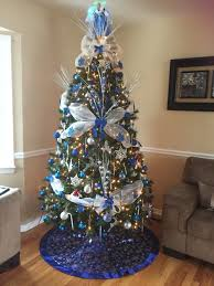 Royal Blue White And Silver Christmas Tree Love The Color