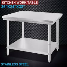Stainless Steel Commercial Kitchen Work Food Prep Table 24x36 In