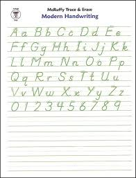 English Handwriting Practice Trace Erase Alphabet Handwrtng Sheets Modern Mcruffy
