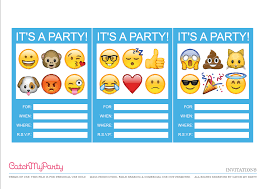 Birthday Invite Templates Free To Download Enchanting Free Emoji Party Printables Catch My Party
