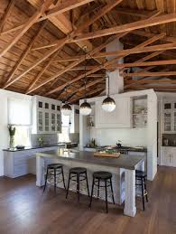 Interior Living Spaces-Exposed Ceiling Trusses-19-1 Kindesign