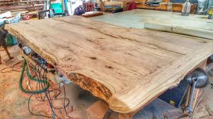 Making Wood Furniture Making A Cherry Wood Table From A Log Youtube