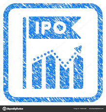 Ipo Chart Framed Stamp Stock Vector Ahasoft 185051926