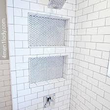 subway tile shower niche. Contemporary Tile Shower Niche In Subway Tile