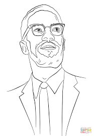 Small Picture Malcolm X coloring page Free Printable Coloring Pages