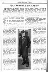 edison views the world at seventy inventing entertainment the  edison views the world at seventy excerpts from a recent interview mr edison