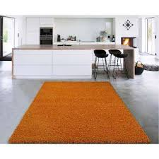 cozy collection orange 5 ft x 7 ft indoor area rug