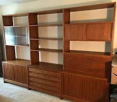 mid century modernism teak wall unit