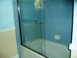 image of bathtub sliding doors glass