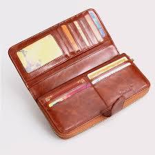 100 oil waxing cowhide wallet for women