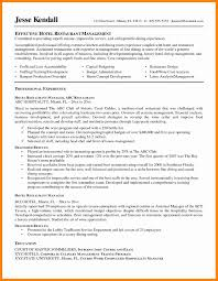 Resume Format For Hotel Management Trainee Eliolera Com