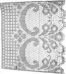 Юбка филейным вязанием схемы