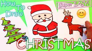 How To Draw Christmas Stuff (Reindeer, Santa Claus, Christmas Tree) -  YouTube
