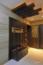 wooden wall in lobby