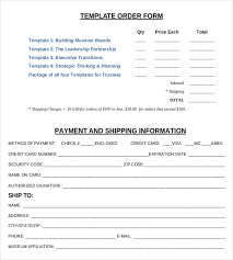 Sample Of Order Form Template 21 Order Form Templates Free Sample Example Format Download