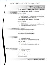 Free Sample Resume Templates 2016 For Electrician Online Free