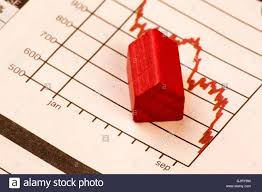 Home Value Falling Chart House Stock Photos Home Value