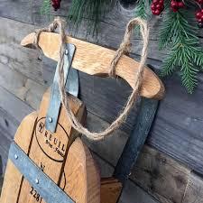 napa valley wine barrel sled by wine country craftsman upcycledzine