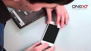 Инструкция по нанесению <b>защитного стекла ONEXT на</b> дисплей ...