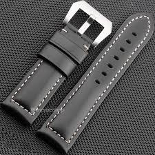<b>22 24 26mm Newest</b> Men Women Black Brown Real Leather ...