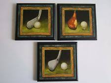 golf office decor. Golf Clubs Wall Decor Plaques Man Cave Office Signs Green Vintage Style Pictures