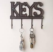 office key holder. Wall Mount Key Holder Hanger Hook Organizer Storage Home Office Decor Hanging F