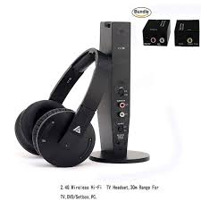 tv headphones. artiste adh500 2.4g hifi stereo wireless tv headphone with digital output converter for pc tv headphones o