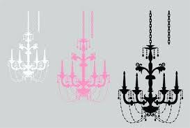 chandelier wall decor elegant beaded art graphic silhouette decoration