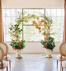 indoor wedding arches. greenery arch indoor wedding arches