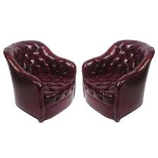 tufted club chair pair of ward tufted club chairs in original oxblood leather on for tufted club chair