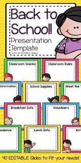 Teacher Powerpoint Free Editable In Powerpoint Meet The Teacher Is When Parents Get
