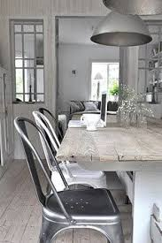 tolix chairs metal and white kitchen diningdining areadining