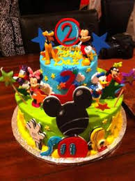 Complete Set Of Edible Fondant Mickey Mouse Clubhouse Inspired Cake