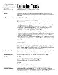Marketing Communication Specialist Resume Resumes Letters