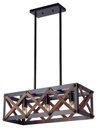 metal nets shade pendant with wooden frame 3 lights metal cage chandelier