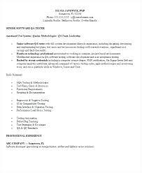 Sample Resume For Qa Tester Digiart