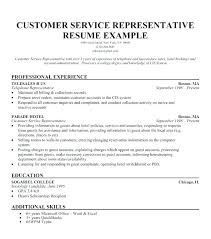 Resumes For Customer Service Jobs Sample Of Resume For Customer Service Skinalluremedspa Com