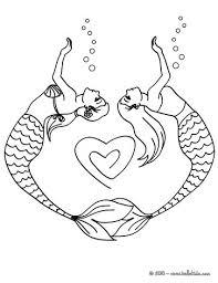 Small Picture Mermaid and dolphins coloring pages Hellokidscom