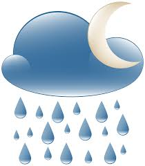night clipart. Interesting Night Rainy Night Weather Icon PNG Clip Art And Clipart