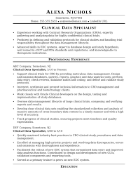 Sample Resume for a Midlevel Clinical Data Specialist