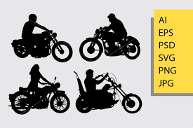 Riding Motorcycle Silhouette Graphic By Cove703 Creative Fabrica