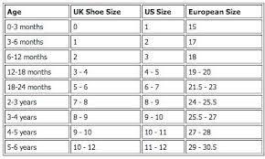 Baby Shoe Chart Baby Shoe Sizing Chart Haydee And Koko