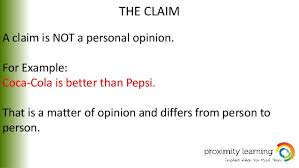 argumentative essay 6 the claim