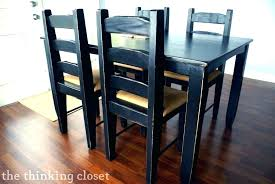 distressed wood kitchen table the beginners guide to distressing with chalk paint our black and chairs white grey set round kitc
