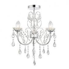tabitha 3 light semi flush ip44 bathroom safe chandelier chrome and crystal glass