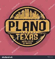 Logo Design Plano Tx Stamp Label Name Plano Texas Vector Stock Vector Royalty