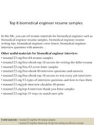 Biomedical Engineering Resume Free Resume Example And Writing